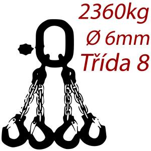 Viazacia reťaz triedy 8 O-4H, priemer 6mm, nosnosť 2360kg
