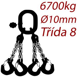 Viazacia reťaz triedy 8 O-4H, priemer 10mm, nosnosť 6700kg