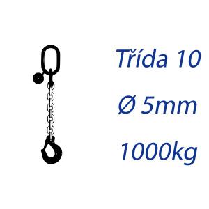 Viazací reťaz triedy 10, O-H, priemer 5mm, nosnosť 1000kg