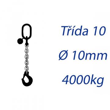 Viazacia reťaz triedy 10, O-H, priemer 10mm, nosnosť 4000kg