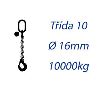 Viazacia reťaz triedy 10, O-H, priemer 16mm, nosnosť 10000kg