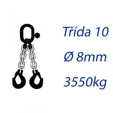 Viazacia reťaz triedy 10, O-2H, priemer 8mm, nosnosť 3550kg
