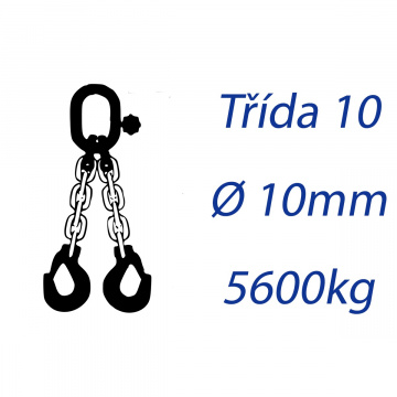 Viazacia reťaz triedy 10, O-2H, priemer 10mm, nosnosť 5600kg