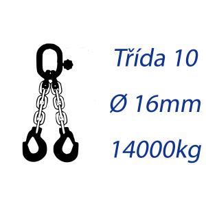 Viazacia reťaz triedy 10, O-2H, priemer 16mm, nosnosť 14000kg