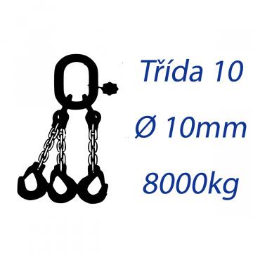 Viazacia reťaz triedy 10, O-3H, priemer 10mm, nosnosť 8000kg