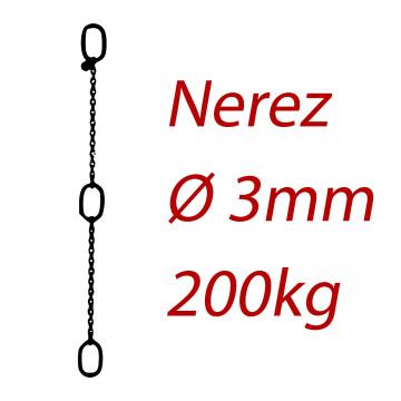 CPK 3, nerezový převěsný reťaz - nosnosť 200kg - Pumpenkette