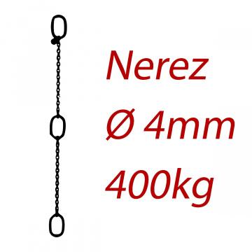 PK 4, nerezový převěsný reťaz - nosnosť 400kg - Pumpenkette