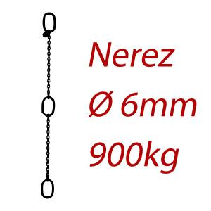CPK 6, nerezový převěsný reťaz - nosnosť 900kg - Pumpenkette