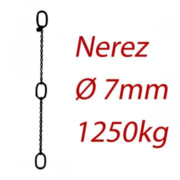 CPK 6, nerezový převěsný reťaz - nosnosť 1250kg - Pumpenkette