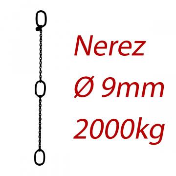 CPK 9, nerezový převěsný reťaz - nosnosť 2000kg - Pumpenkette