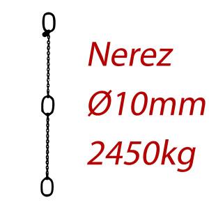 PK 10, nerezový převěsný reťaz - nosnosť 2000kg - Pumpenkette