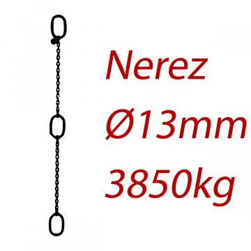 CPK 13, nerezový převěsný reťaz - nosnosť 3850kg - Pumpenkette