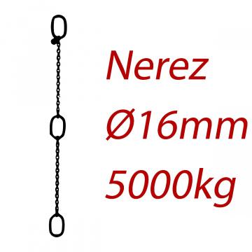 CPK 16, nerezový převěsný reťaz - nosnosť 5000kg - Pumpenkette