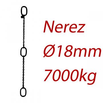 CPK 18, nerezový převěsný reťaz - nosnosť 7000 kg - Pumpenkette