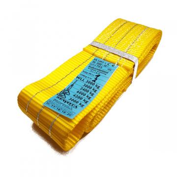A2 3000kg, závesný popruh plochý nekonečný jednovrstvový, žltý, šírka 90mm