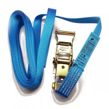 SEWOTA - upínací pás, typ 1001 / Z, jednodielny s račňou, 25mm, LC 500 / 1000daN, modrý
