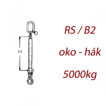 Jednopramenný textilný kombinovaný vazák, oko-hák, nosnosť 5000kg