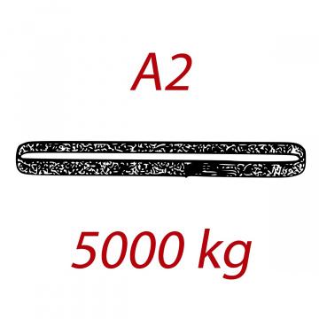 A2 5000kg, závesný popruh plochý nekonečný jednovrstvový, červený, šírka 150mm