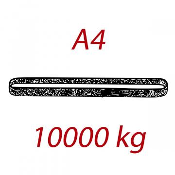 A4 10000kg, závesný popruh plochý nekonečný dvojvrstvový, oranžový, šírka 150mm