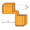 PU - polyuretánová ochrana rohů, typ KWS, pre oceľová lana