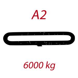 A2 6000kg, závesný popruh plochý nekonečný jednovrstvový, hnedý, šírka 180mm