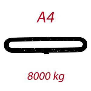 A4 8000kg, závesný popruh plochý nekonečný dvojvrstvový, modrý, šírka 120mm