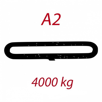 A2 4000kg závesný popruh plochý nekonečný jednovrstvový šedý šírka 120mm FORANKRA