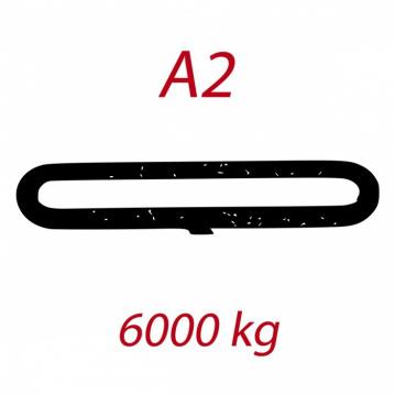 A2 6000kg závesný popruh plochý nekonečný jednovrstvový hnedý šírka 180mm FORANKRA