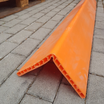 Ochrana hran z PE - typ CP02 oranžová, 19x190x190mm, dlžka 2m, OVASLING