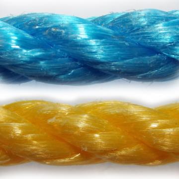 PP - polypropylénové laná a šnúry stáčaná, bez jadra