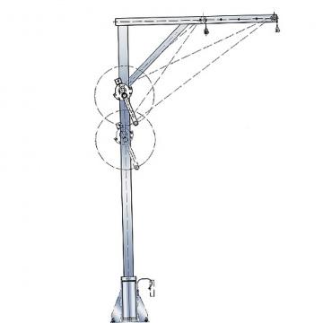 Otočný žeriav pozinkovaný, 4551.0,3, nosnosť 300kg, pol.209769