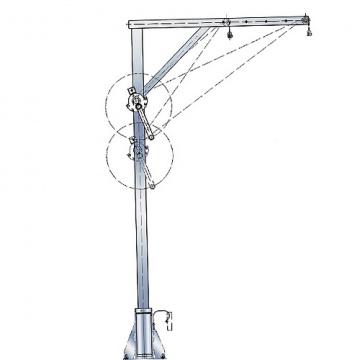 Otočný žeriav nerezový, 4571.0,3, nosnosť 300kg, pol.209994