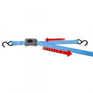 Upínací pás s hákmi a rýchloupínaním, l = 2,5m, 25mm, BS 500kg