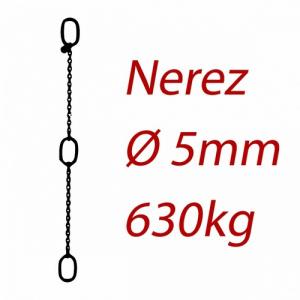 CPK 5, nerezový převěsný reťaz - nosnosť 630kg - Pumpenkette