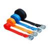 Upínací pás, typ 1001 / K, l = 2m, jednodielny so sponou, 25mm, LC 125daN, červený