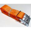 Upínací pás, typ 1001 / K, l = 2m, jednodielny so sponou, 25mm, LC 125daN, oranžov