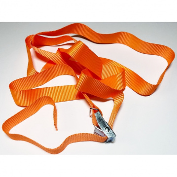 Upínací pás, typ 1001 / K, l = 2m, jednodielny so sponou, 25mm, LC 125daN, oranžový